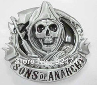 Wholesale Classic reaper skull belt buckle