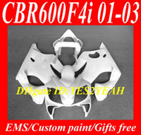 Wholesale ABS Fairing set for HONDA CBR600F4I CBR F4I CBR600 F4I CBR600 complete white Racing Fairings kit gifts HY22
