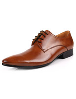 Wholesale Fashion Pointed Toe Cowhide Men s Dress Shoes u7 pZw