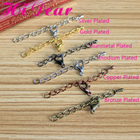 European Beads Professions, Hobbies Iron Metal ExtensionTail Chains With Lobster Clasps Extender Chains For Jewelry Necklace Bracelet 3*50mm Gold Silver(6 Colors)Plated DIY Finding
