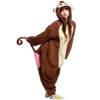 Anime Costumes baboon costume - Unisex Baboon Onesie Animal Kigurumi Adult Pajamas Pyjamas Costume SleepsuitsHot unisex Kigurumi Pooh Anime Cosplay Costume Adult Coverall P