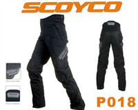 Wholesale SCOYCO P018 MOTORCYCLE PANTS PROTECTIVE RACING MOTORBIKE TROUSERS SPORTS RIDING SOFT WEAR CLOTHES ACCESSORIES