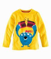 long sleeve yellow t-shirts - Boy T shirts Yellow Color Cartoon Cotton T shirts Kids Clothes Boy Long Sleeve T shirts