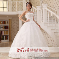 Model Pictures Strapless Backless 2013 New Car bone flowers wedding dress Bridal Gown all size can custom made