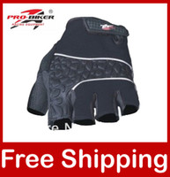 Wholesale Motorcycle Motorbike Racing Gloves Half Finger Gloves Pro biker Black Red Blue Gray MTV