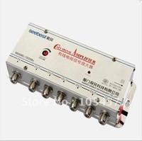 Wholesale SB K6 way catv signal amplifer Sat Cable TV Signal Amplifier Splitter Booster CATV DB