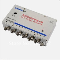 Wholesale SB T12 way catv signal amplifer Sat Cable TV Signal Amplifier Splitter Booster CATV DB