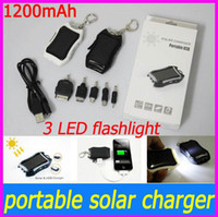 banks power pda - high quality mAh Solar USB Charger Keychain with LED Flash light for Iphone Samsung Nokia phone PDA MP4 MP3