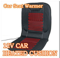 Wholesale New Car Seat back support Cushion HEATED SEAT COVER CAR WARMER Cigarette V BEST HEAT ITEMS
