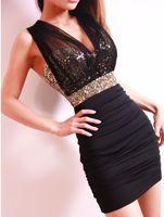 V_Neck Mini A Line Free Shipping 2013 Sexy Dress short tight prom mini luxury bodycon fit satin women clothes fashion