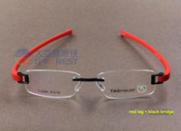 Wholesale Rimless optical frame Brand spectacle frame in high quality Fashion metal frame TR90 temple item no