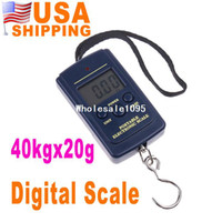 <50g 40Kg/88Lb/1410oz 2 x 1.5V AAA batteries(not included) US Stock To USA CA Hot New Luggage Fishing Weight Digital Scale 20g 40kg 20g-40kg UPS Free Dropship 15Pcs lot Wholesale drop