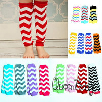 Wholesale 40Pairs Baby Chevron Baby Leg Warmer Baby infant colorful leg warmer child socks Legging Tights Leg Warmers Arm warmers Zig zag Leggings