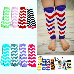 Wholesale New Chevron Baby Leg Warmers Arm warmers Zig zag Leggings This Years Big Trend Cotton Baby Toddler Child Leg Arm Warmer pairs