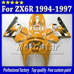 Custom motorcycle fairing set for Kawasaki Ninja ZX 6R 1994 1995 1996 1997 ZX-6R ZX6R 94 95 96 97 aftermarket fairing +7gifts