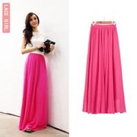 Wholesale New Summer Fashion Skirt Korean Style Maxi Chiffon Skirt Plus Size Hot Sale Beach Dress K0026