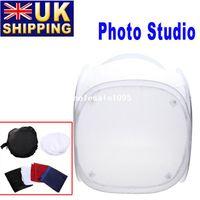 Wholesale UK Stock To UK Photo Photography Studio Shooting Tent Softbox Cube Box x cm Photo Light Tent Portable Bag Backdrops drop