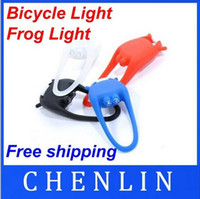Wholesale New LED mini Silicone Bicycle Cycle Bike Light lamp Set