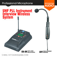 Wholesale AH1 UHF PLL Instrument gooseneck IInstrument Wireless System Musical Instruments Microphone