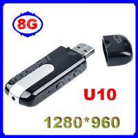 8GB Motion Detection  Hot!! Motion Detection Mini DVR Cam Camera Hidden Recorder Video DV Spy USB Flash Drive Recorder U10 1280*960 + 8G Card