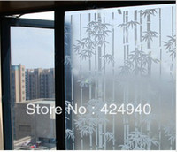 Wholesale Wansheng bamboo design frosted is prevented bask in through the window glass stickers