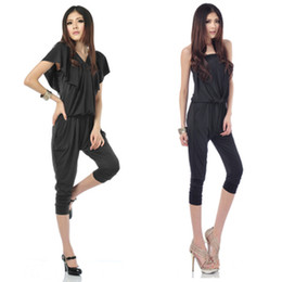 Wholesale 2013 Jumpsuits amp Union Suits new Korean Harlan wrapped black Siamese pants jumpsuit women s clothing leisure Leotard