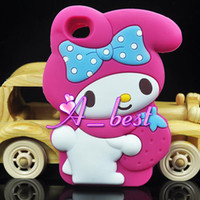 Wholesale New Cartoon Cute My Melody Silicon Silicone Soft Back Case Cover For Apple iPod Touch