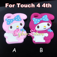 Wholesale 3D kawaii Cute girl My Melody Silicone Silicon Case Cover For ipod Touch th