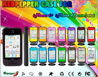 Silicone For Apple iPhone For Christmas Red Pepper Phone Case Waterproof Case Apple iPhone 4 4S Iphone 5 Water Life Dirt Proof with Retail Package