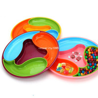 Wholesale high quality plastic circle candy dish box Melon and fruit box ship by random color