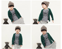 Wholesale 2013 autumn new style children Casual sets Korean Skeleton t shirt pants piece boys suit kids clothing size sets QA395