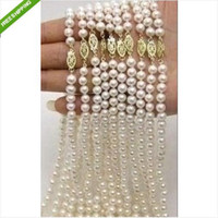 Wholesale noblest PC Akoya AAA white mm pearl necklace quot k clasp