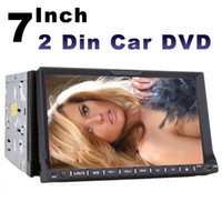 Wholesale universal two Din quot inch Car DVD player with GPS navigation free map audio Radio stereo Bluetooth TV AUX IN DASH digital touch screen