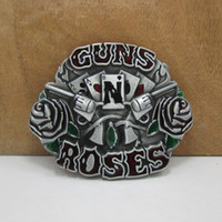 Wholesale Fashion rose belt buckle metal gun belt buckle western buckle FP with pewter plating