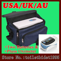 Wholesale Double Batteries Traveling Oxygen Concentrator for Home Car oxygenerator bedroom indoor oxygen making machines Pulse Finger Oximeter