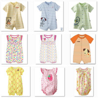 Boy Summer 100% Cotton Hot! Free Shipping Wholesale Jumping Beans Baby Bodysuits Shortalls Baby's Romper One-piece Clothes Overalls Babywear 40PCS W115