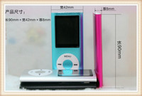 Wholesale New inch Screen th mp3 mp4 Player with card slot FM radio Voice Recorder colors dhl