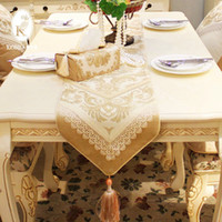 Wholesale New Table Runner European luxury coffee table cloth banners cabinet flag soluble lace fabric tablecloth tables