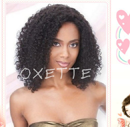 Oxette Beauty glueless afro kinky curly full lace wigs human hair glueless lace front Brazilian lace wig glueless human virgin