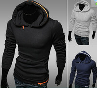 Wholesale 2013 Korean Style Fashion Men s Casual Personalized Zipper Slim collar hedging Hoodies amp Sweatshirts Jacket Coat