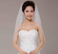 Netting beadings brand new - Brand New Ivory bride s Wedding veils tulle layers with beautiful Hand sewing beadings edge