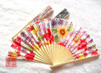 Wholesale Sandalwood fan high grade Watercolor painting wooden folding fan gift small household products mixed batch