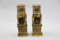Wholesale Oriental Bronze Statue Sculpture Collectible Collection Beijing Lions T023