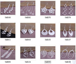 Wholesale Fashion cheap jewelry mixed pair earrings sterling silver Lady Women Earring jewelry factory price