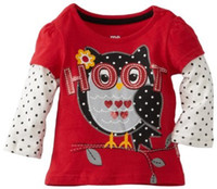 Wholesale Top Quality Jumping Beans Girl s Tshirts Jersey Owl Sweatshirts Outfit Long Sleeve Children s T shirt Kids Tees Shirts M1732