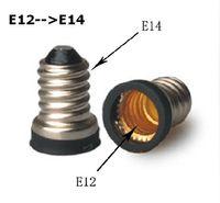 bulbs and lighting - High Quality Base Converter E14 to E12 or E12 to E14 for LED candle light LED bulbs and led spotlights