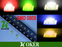 1000 PCS lot SMD 0805 White Red Blue Green Yellow LED Lamp Diodes Ultra Bright 0805 SMD LED Free shipping