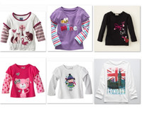 Wholesale Jumping Beans Retail Girls Jumper Tshirts Children s Clothes Jersey Kids T Shirt Tops Boys Long Sleeve T shirt Tee Shirts M1746