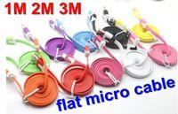 motorola nokia DHL  blackberry 1M 2M 3M micro usb charging flat noodle cable for htc motorola LG nokia DHL samsung blackberry 100pcs