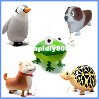 Large balloon animal frog - 18inches Aluminum balloons toy inflatable walking pet ballons lovely animals dog penguin tortoise frog shipping drop